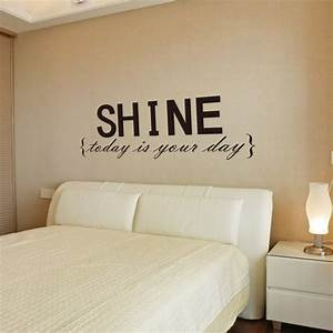 wall decor decal stickers quotes shine wall letters decor With removable wall letters