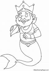 Merman Conch sketch template