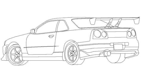 nissan skyline gtr  coloring pages coloring pages