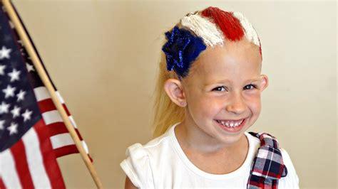 july flag hairstyle hair  cute tutorial