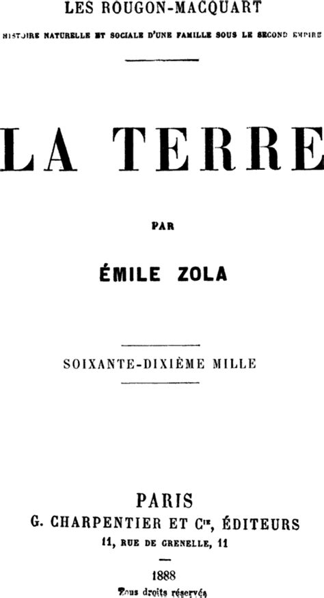 Zola La Terre Extrait by La Terre Zola Wikip 233 Dia