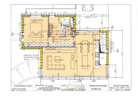 plan maison 3 chambres 1 bureau gallery of plan maison 3 chambres 1 bureau with plan