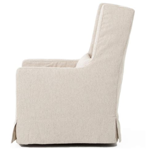 linen chair slipcover wilshire modern slipcover linen swivel arm