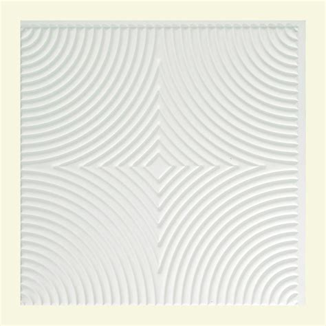 fasade rings 2 ft x 2 ft lay in ceiling tile in matte