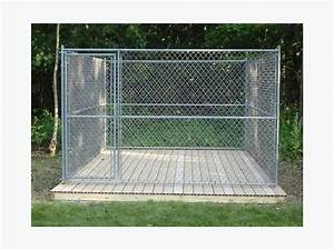 delivery included 10x10x6 panel style chain link dog With chain link dog kennel panels