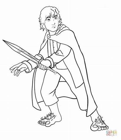 Hobbit Coloring Pages Gandalf Lord Rings Frodo