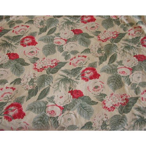 Ralph Upholstery Fabric by Ralph Fabric Floral 4 Yards Vintage Cotton