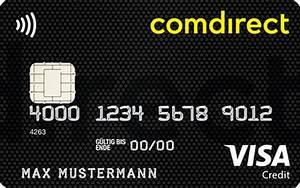 Gutschrift Auf Kreditkarte : comdirect visa card inklusive girokonto auf kostenlose kostenlose ~ Orissabook.com Haus und Dekorationen