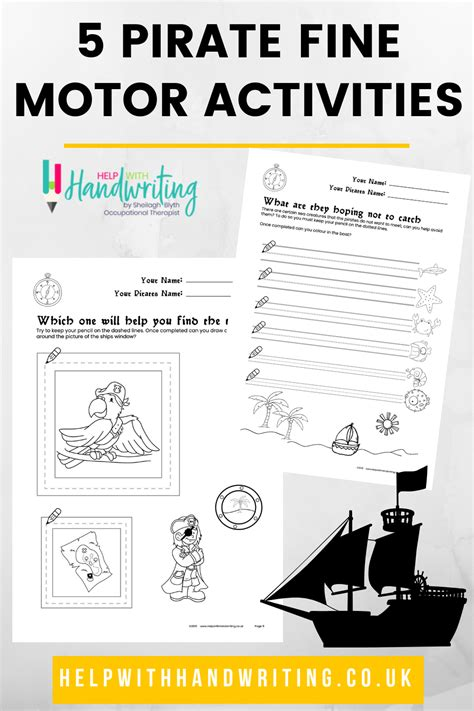 pirates lines shapes  images kids handwriting