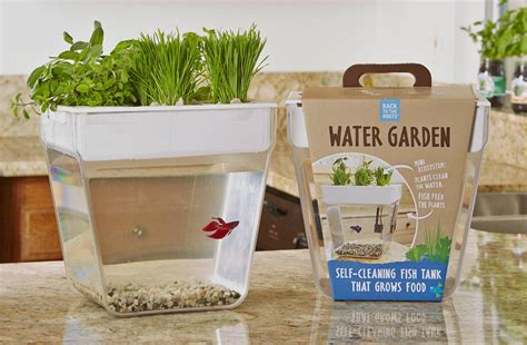 back to the garden fish tank herb garden in one kitchen gadget box