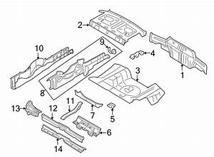 Ford Mustang Package Tray. COUPE. BODY, Rear, FLOOR - 5R3Z6346506AA | Lakeland Ford Online Parts ...