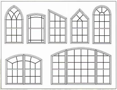 Hung Single Arched Window Windows Drawings Open