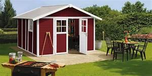 Déco 7 5 PVC rouge Grosfillex + kit d'ancrage Abri de jardin en résine OOGarden France