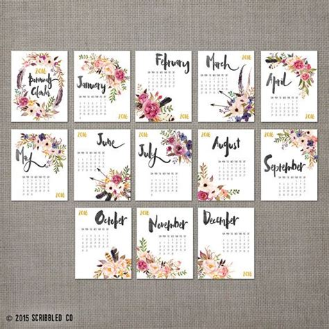 ideas calendars pinterest printable