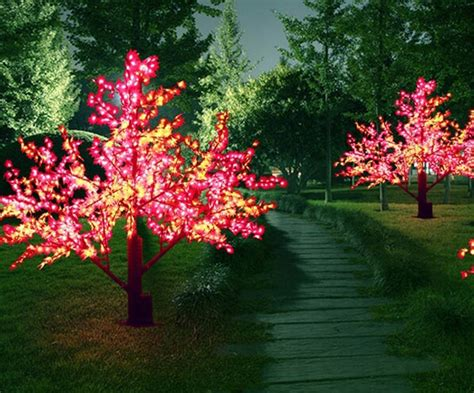 popular outdoor artificial trees with lights from china