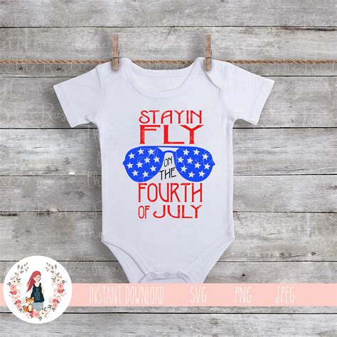 The free cut files include svg, dxf, eps and png files. 4th of July SVG Stayin Fly On The Fourth Of July SVG July