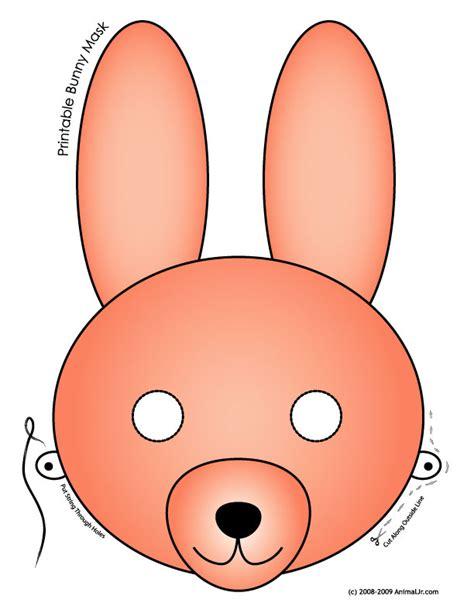 printable easter bunny  baby chick masks woo jr