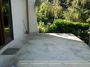 Dalles Beton Terrasse : dalle beton pour terrasse exterieure stunning affordable perfect elegant peinture bton et enrob ~ Melissatoandfro.com Idées de Décoration