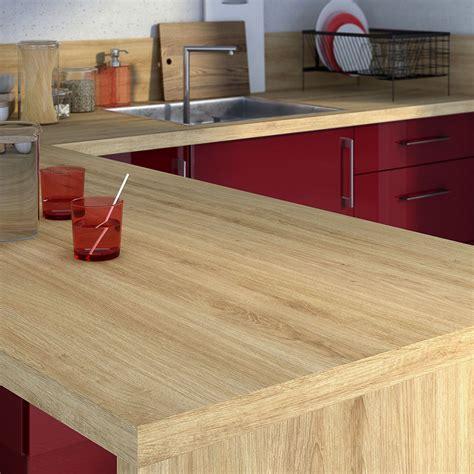 plan de travail cuisine chene plan de travail stratifié effet chêne naturel mat l 315 x