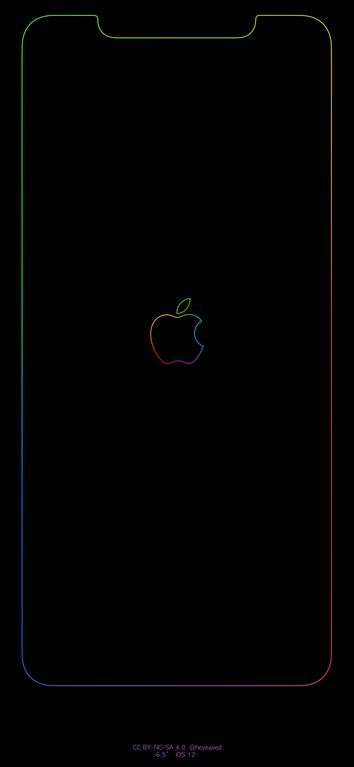 Apple Logo Wallpaper Iphone Xs Max by Xs Max Rainbow Border Apple Logo Iphonexsmax