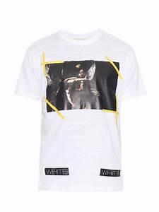 1f1b16f8fc377e lyst off white c o virgil abloh new caravaggio print t shirt in white for  men