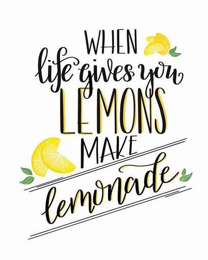 Printable Lemonade Lemons Gives Quote Printables Stand
