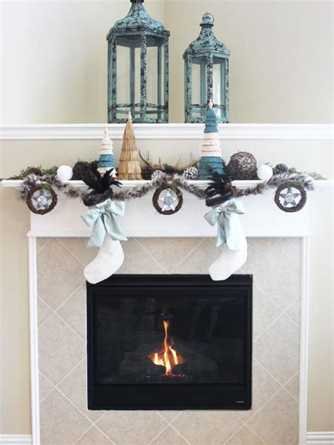 Luxe Rustic Mantel Decorating Ideas   DIY