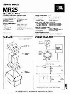 Download Free Pdf For Jbl Mr25 Speaker Manual