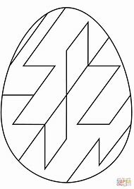 Easter Egg Coloring Pages Patterns