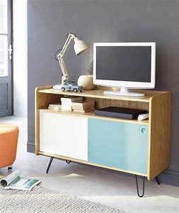 Meuble Tv Vintage : 47 id es d co de meuble tv ~ Teatrodelosmanantiales.com Idées de Décoration