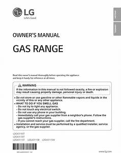 Lg Ldg4313st User Manual Gas Range Manuals And Guides 1508369l