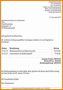 Ordnungsgemäße Rechnung Muster : 14 rechnung schreiben kleinunternehmer kostenlos theradish society ~ Themetempest.com Abrechnung