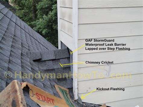 hail damaged roof replacement part  chimney
