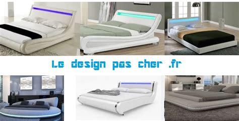idee deco chambre lit design pas cher discount cuir blanc design led