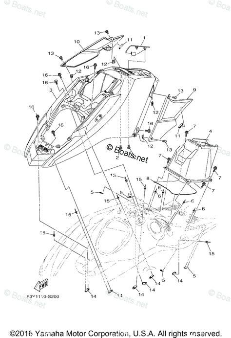 Waverunner Engine Diagram by Yamaha Waverunner Parts 2017 Oem Parts Diagram For Engine