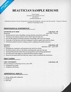 beautician resume example http resumecompanioncom With cosmetology resume template