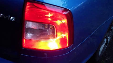 skoda octavia 2 facelift rear fog lights enabled