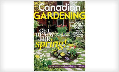year subscription  canadian gardening