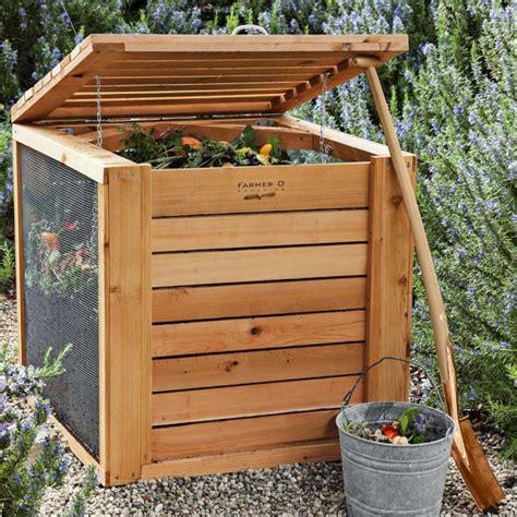 wooden compost bin farmer d cedar composter williams sonoma 5091