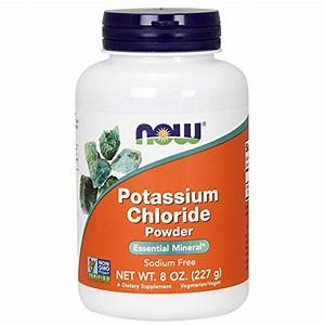 Now Supplements  Potassium Chloride Powder  Certified Non-gmo  Essential Mineral   8-ounce