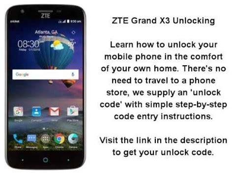 how to unlock a zte cricket phone zte grand x 3