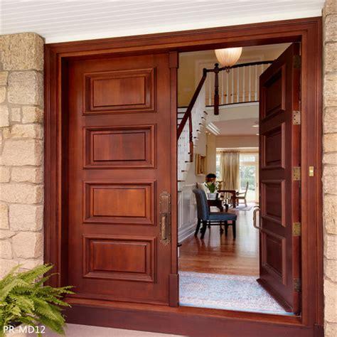 solid wood main entrance wooden door designs