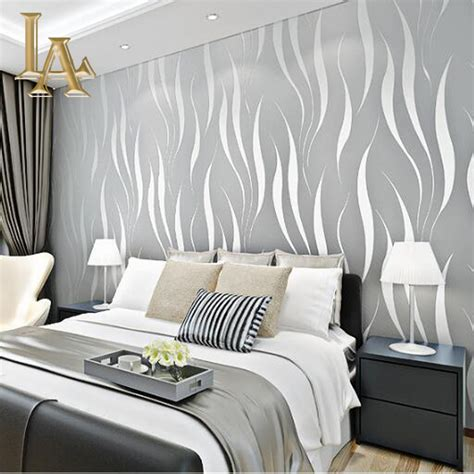 3d Wallpapers For Walls by Fashion Embossed Flocking 3d Striped Wallpaper For Walls