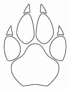 cougar paw print pattern use the printable outline for With footprint pattern template