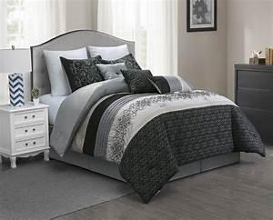 Unique, Home, Yenene, 7, Piece, Comforter, Set, Floral, Embroidery