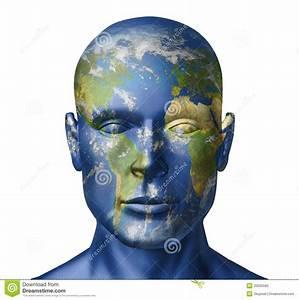 Earth Human Face Stock Photo