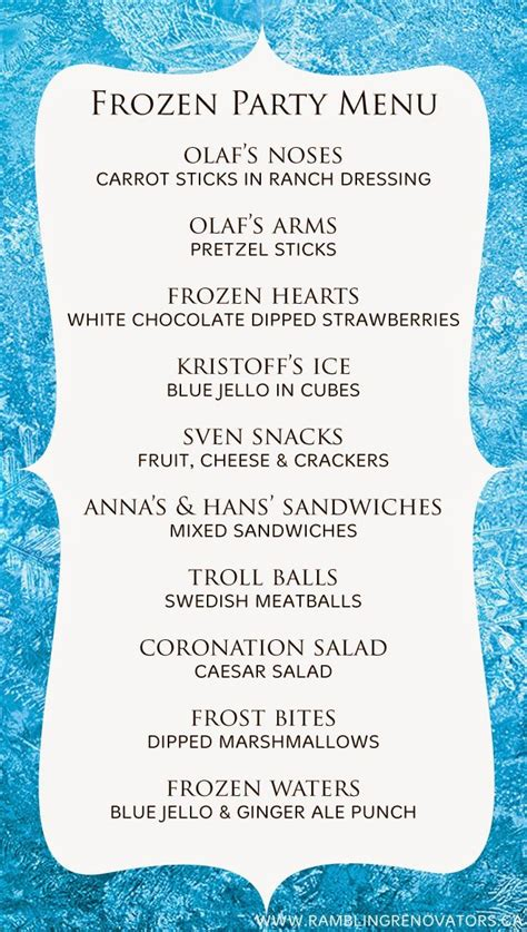 les jeux de cuisine pizza disney frozen birthday menu food suggestions ideas