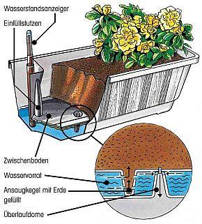 blumenkaesten mit wasserspeicher weniger giessarbeit