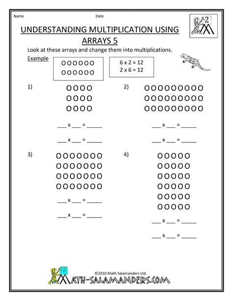 grade 3 multiplication arrays worksheets multiplication