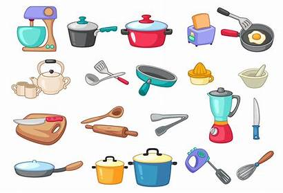 Utensils Kitchen Vector Illustration Vectors Clipart Cooking